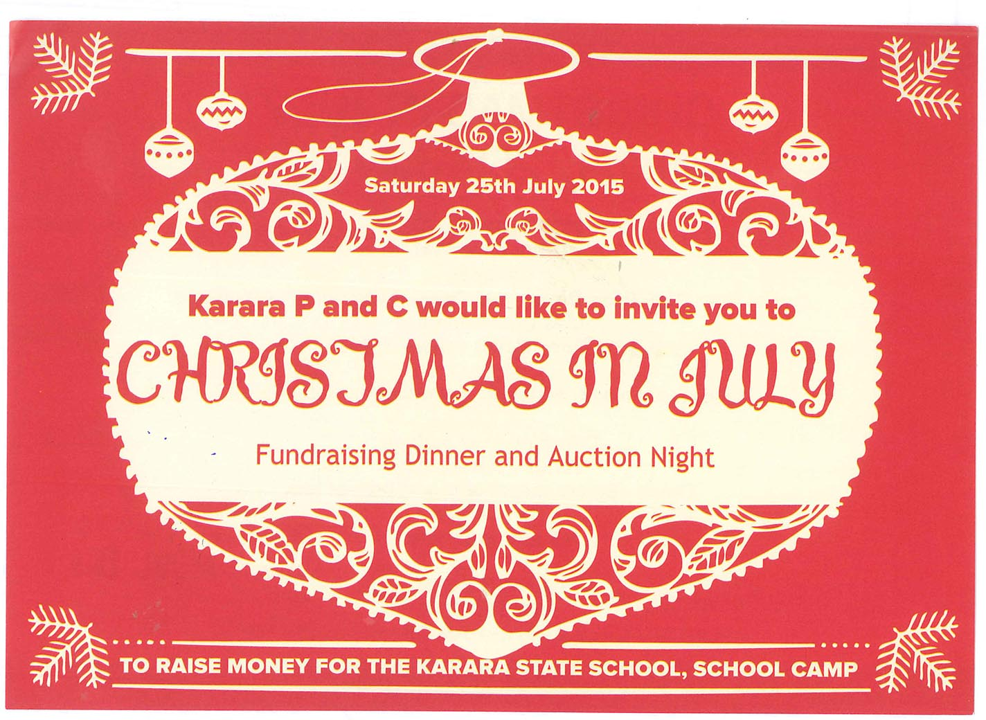 Christmas in July P and C Fundraiser